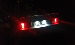 Светодиодная подсветка номера