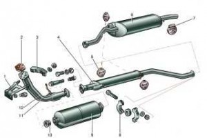 Выхлопная система для двигателя 1,5л