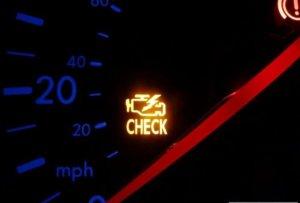Загорается чек на скорости (е-газ)