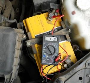 Измерение напряжения генератора