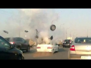Взрыв газового оборудования в ВАЗ 2114