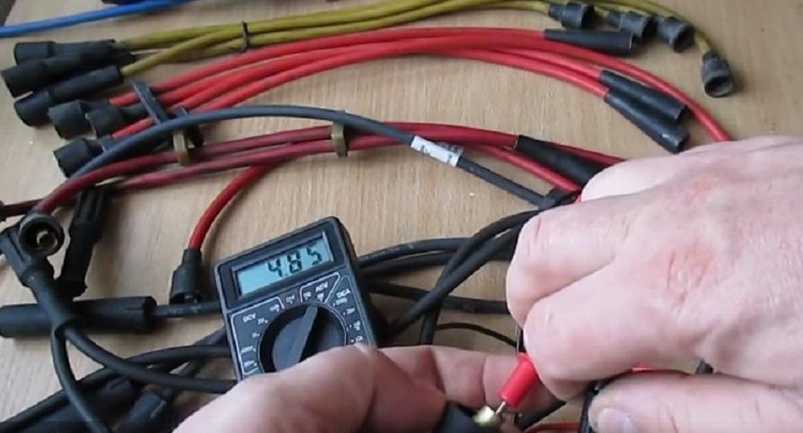 Проверка высоковольтных проводов