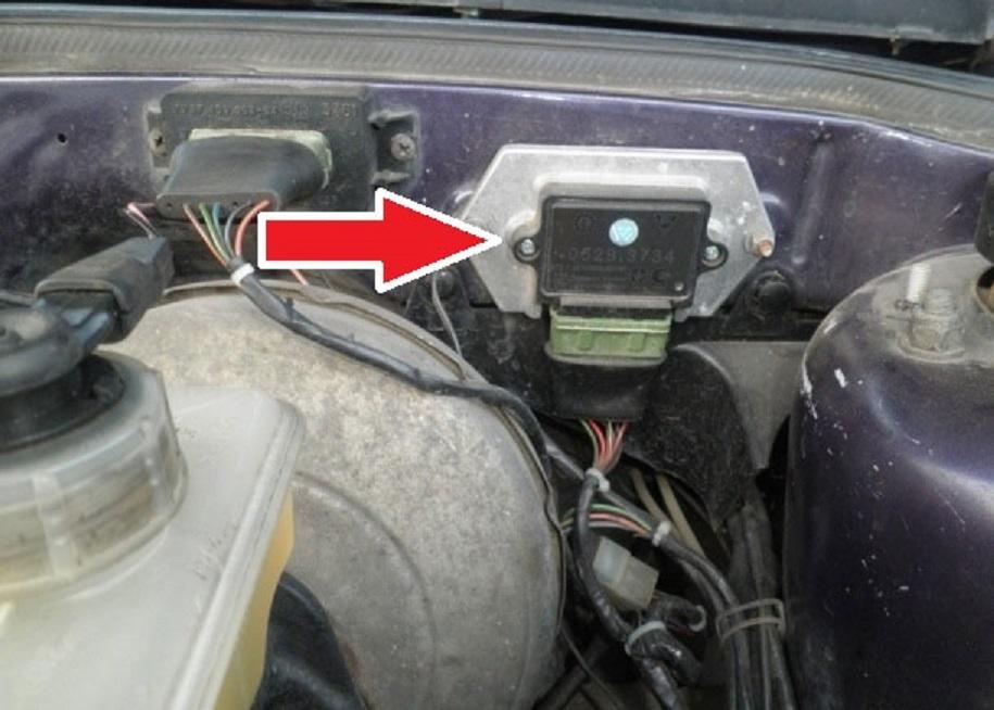 Расположение электронного коммутатора